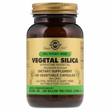 Solgar, Full Potency Herbs, Vegetal Silica, 100 Vegetable Capsules (Discontinued Item)