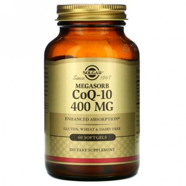 Solgar, メガソーブCoQ-10、400 mg、ソフトジェル60錠