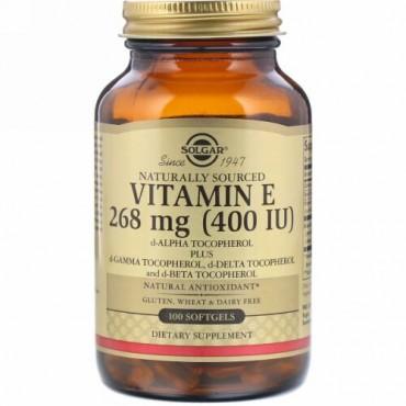 Solgar, Vitamin E, 400 IU, 100 Softgels