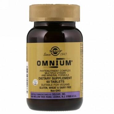 Solgar, Omnium(オムニウム)、植物栄養素コンプレックス、複数のビタミンとミネラルフォーミュラ、タブレット60粒