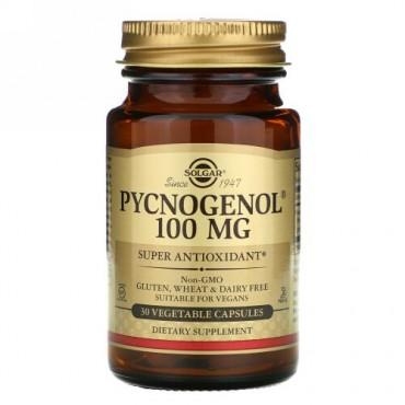 Solgar, ピクノジェノール、100 mg、植物性カプセル30粒