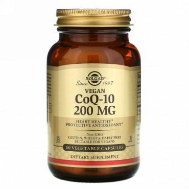 Solgar, ベジタリアンCoQ-10、200 mg、植物性カプセル60粒