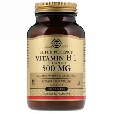 Solgar, ビタミン B1 (チアミン)、500 mg、100錠