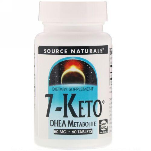 Source Naturals, 7ケト、DHEAメタボライト50mg、60錠