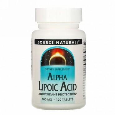 Source Naturals, αリポ酸, 100 mg, 120錠