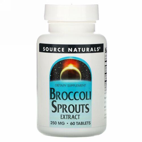 Source Naturals, ブロッコリースプラウトエキス、250mg、60粒