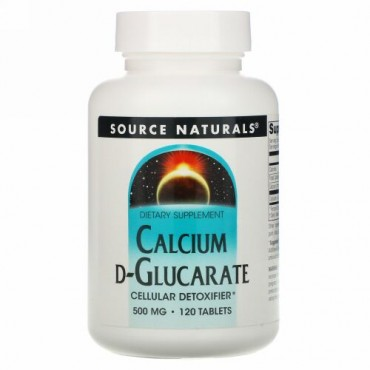 Source Naturals, D-グルカル酸カルシウム、500 mg、120錠