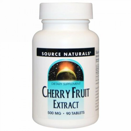 Source Naturals, チェリー果実エキス、500 mg、90粒