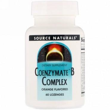 Source Naturals, コエンザイムB複合体、オレンジ味、ロゼンジ60個