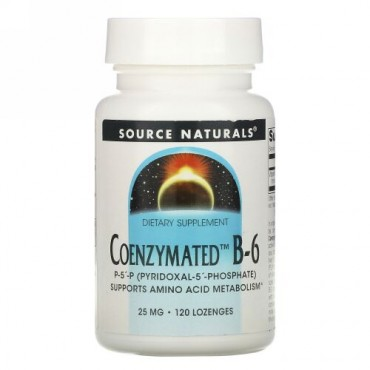 Source Naturals, Coenzymated B-6, 25 mg Sublingual , 120錠