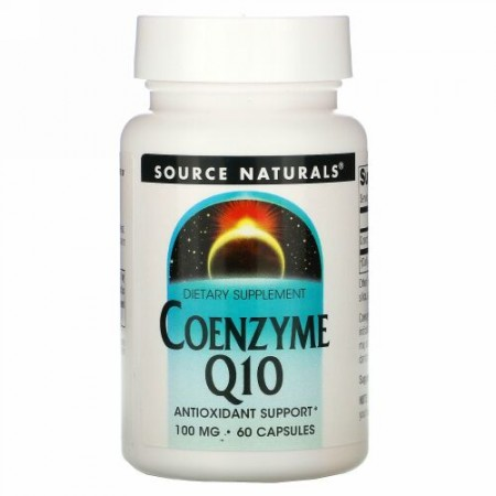 Source Naturals, コエンザイムQ10、 100 mg、 60カプセル