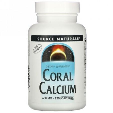 Source Naturals, コーラルカルシウム, 600 mg, 120 カプセル