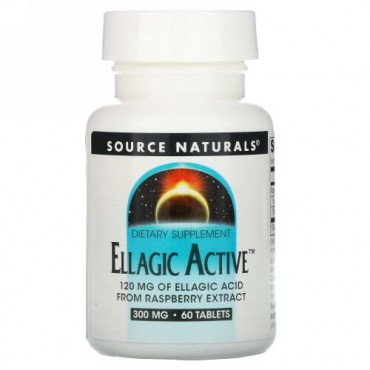Source Naturals, エラジックアクティブ、 300 mg、 60錠