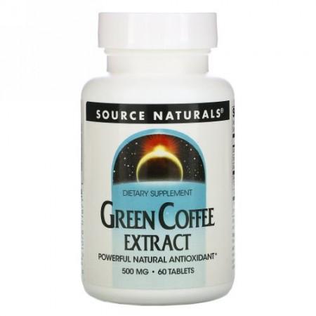 Source Naturals, グリーンコーヒーエキス, 500 mg, 60 錠