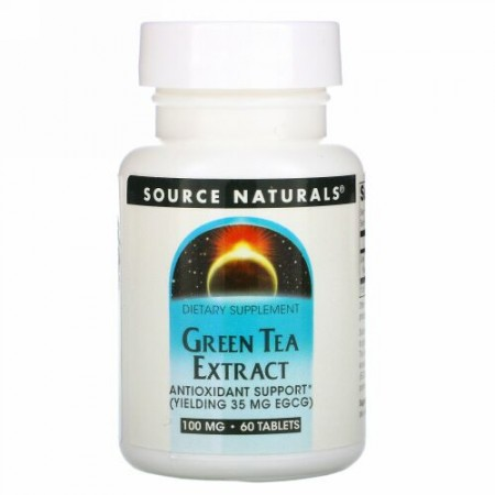 Source Naturals, グリーンティーエキス, 60錠