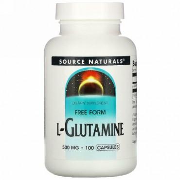 Source Naturals, L-グルタミン, 500 mg, 100カプセル