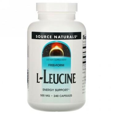 Source Naturals, L-ロイシン、 500mg、 240カプセル