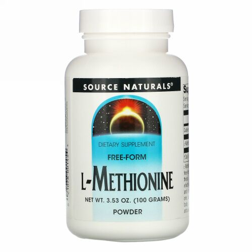 Source Naturals, L-メチオニン、 3.53 oz (100 g)