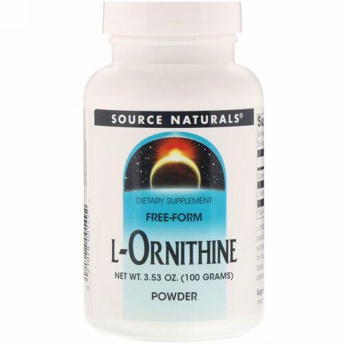 Source Naturals, L-オルニチンパウダー、 3.53オンス (100 g)