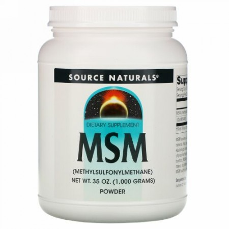 Source Naturals, MSMパウダー、1,000g(35オンス)