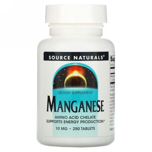 Source Naturals, マンガン, 10 mg, 250錠