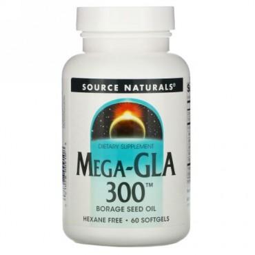 Source Naturals, メガ-GLA 300、 60ソフトジェル