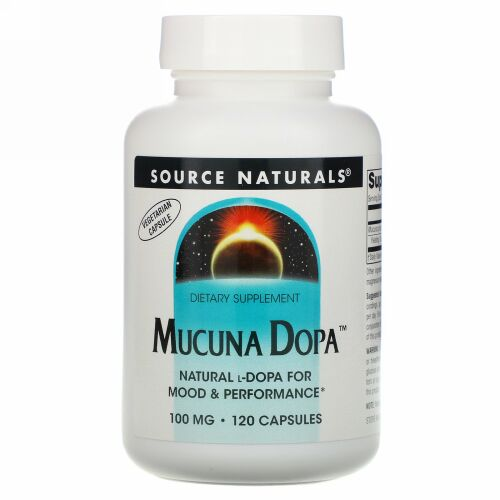 Source Naturals, ムクナ・ドーパ, 100 mg, 120 カプセル