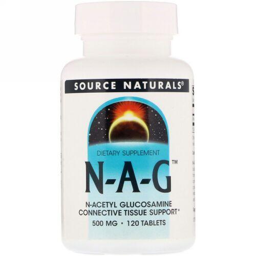 Source Naturals, N-A-G、500mg、120錠