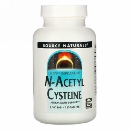 Source Naturals, N-アセチルシステイン, 1000 mg, 120錠