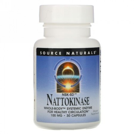 Source Naturals, NSK-SDナットウキナーゼ、100mg、30粒