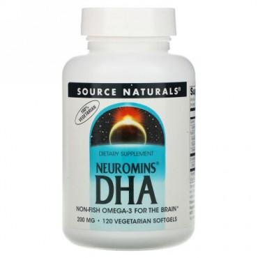 Source Naturals, Neuromins DHA, 200 mg, 120 Vegetarian Softgels