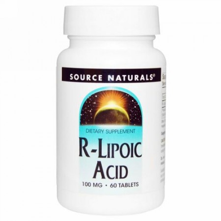 Source Naturals, Rリポ酸, 100 mg, 60錠