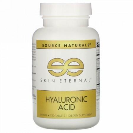 Source Naturals, Skin Eternal、ヒアルロン酸、50 mg、120錠