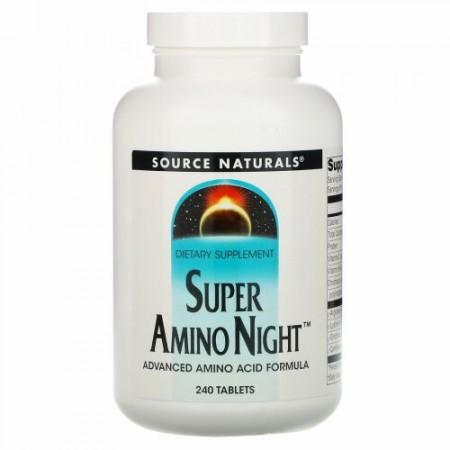 Source Naturals, スーパー アミノナイト、 240錠