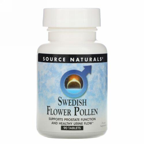 Source Naturals, スウェーデンの花の花粉, 90錠