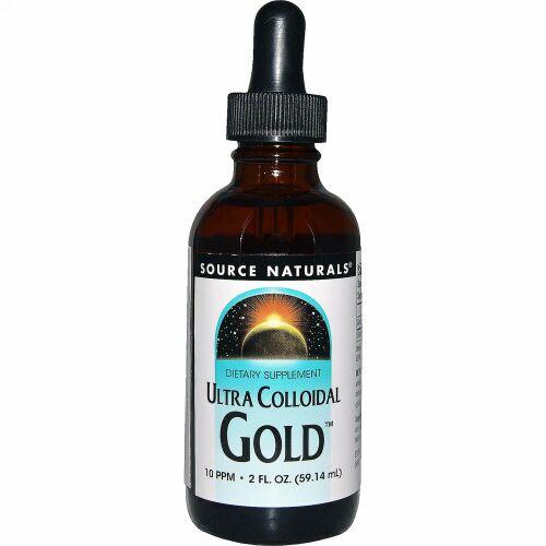Source Naturals, ウルトラ・コロイダル・ゴールド、 10 PPM、2 液量オンス (59.14 ml) (Discontinued Item)