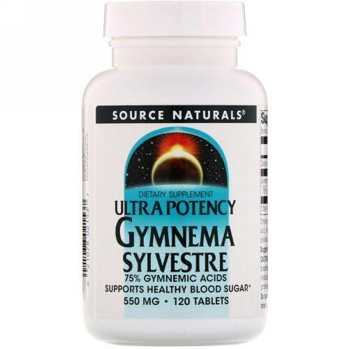 Source Naturals, ウルトラ・ポーテンシー・ギムネマ, 550 mg, 120 錠
