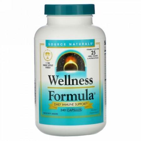 Source Naturals, Wellness Formula(ウェルネスフォーミュラ)、毎日の病気に負けない体づくりをサポート、240粒