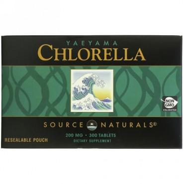 Source Naturals, ヤエヤマクロレラ、 200 mg、 300タブレット