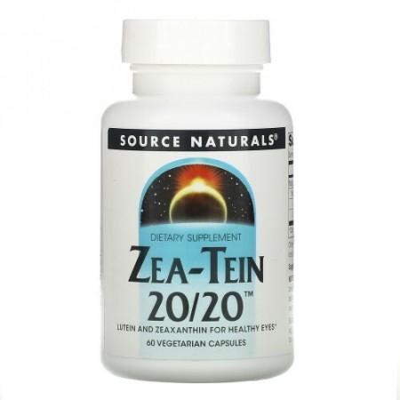 Source Naturals, Zea-Tein 20/20、60ベジカプセル