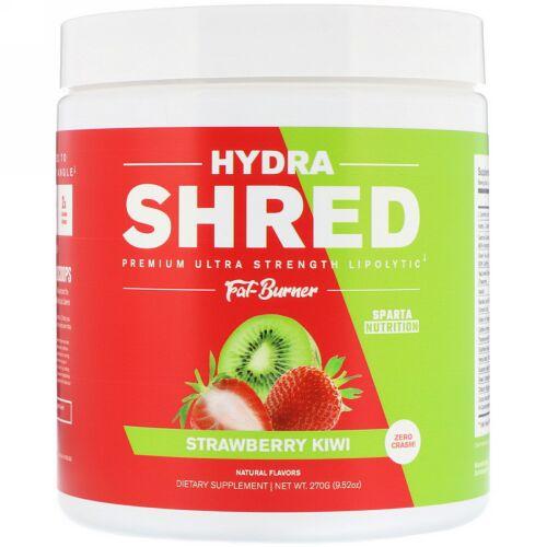 Sparta Nutrition, Hydra Shred, Premium Ultra Strength Lipolytic Fat Burner, Strawberry Kiwi, 9.52 oz (270 g) (Discontinued Item)