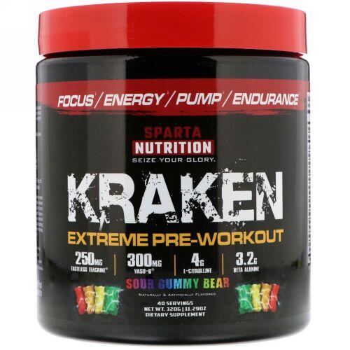Sparta Nutrition, Kraken Extreme Pre-Workout, Sour Gummy Bear, 11.29 oz (320 g) (Discontinued Item)