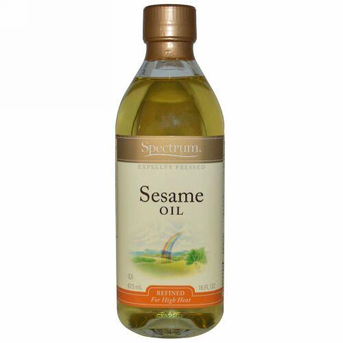 Spectrum Culinary, セサミオイル, 精製, 16 液量オンス (473 ml) (Discontinued Item)