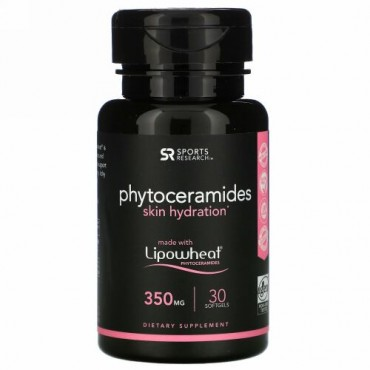 Sports Research, フィトセラミドスキンハイドレーション、350 mg、ソフトジェル30粒