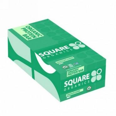 Square Organics, Organic Protein Bar, Chocolate Coated Mint , 12 Bars, 1.7 oz (48 g) Each (Discontinued Item)