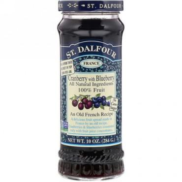 St. Dalfour, クランベリー、デラックス・ブルーべりー入りクランベリー・フルーツスプレッド、10オンス(284 g)