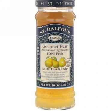 St. Dalfour, グルメ・洋梨, 100% フルーツ・スプレッド, 10 oz (284 g)
