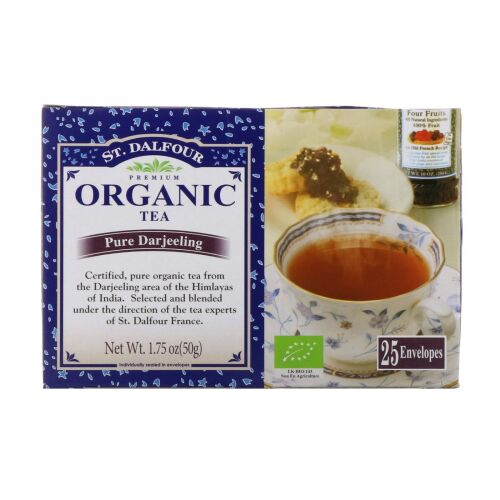St. Dalfour, Organic Pure Darjeeling Tea, 25 Tea Bags, 1.75 oz (50 g) (Discontinued Item)