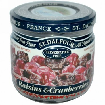 St. Dalfour, レーズン & クランベリー, 7 oz (200 g) (Discontinued Item)