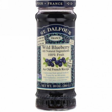 St. Dalfour, ワイルドブルーベリー、デラックスワイルドブルーベリースプレッド 10 オンス (284 g)
